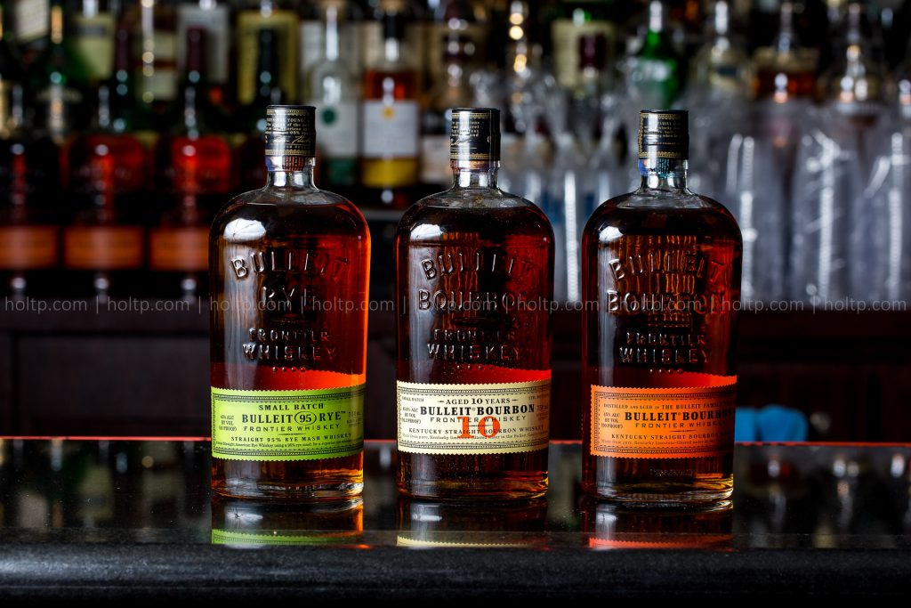 Bulleit Rye Product Photography