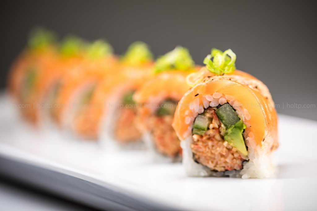 Sushi Roll Photo Spicy Seared Salmon