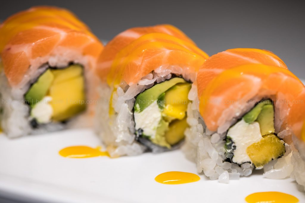 Sushi Roll Photo Salmon Mango Cream Cheese