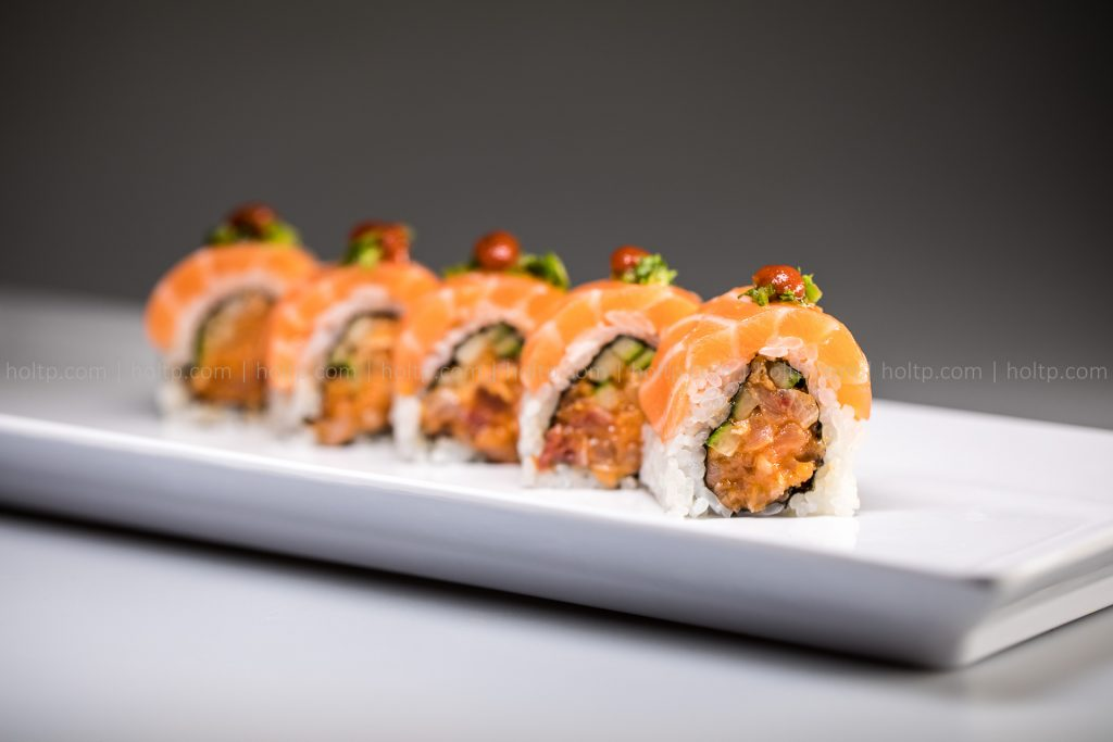 Sushi Roll Photo Spicy Salmon