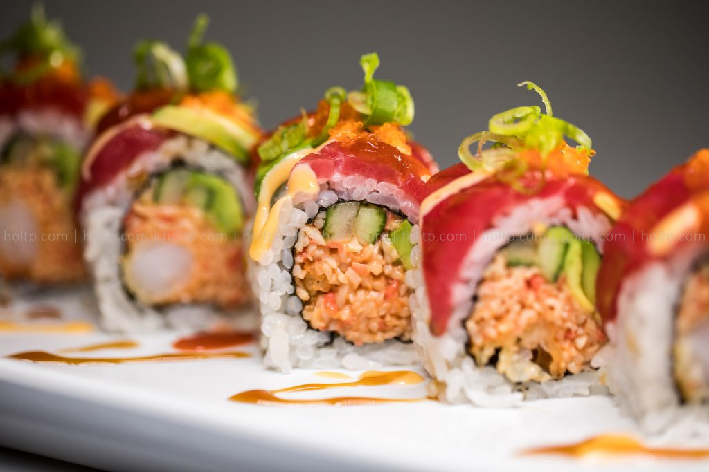 Sushi Roll Photo Spicy Crab Tuna