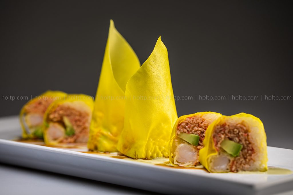 Sushi Roll Photo Shrimp Tumeric Soy Wrapper