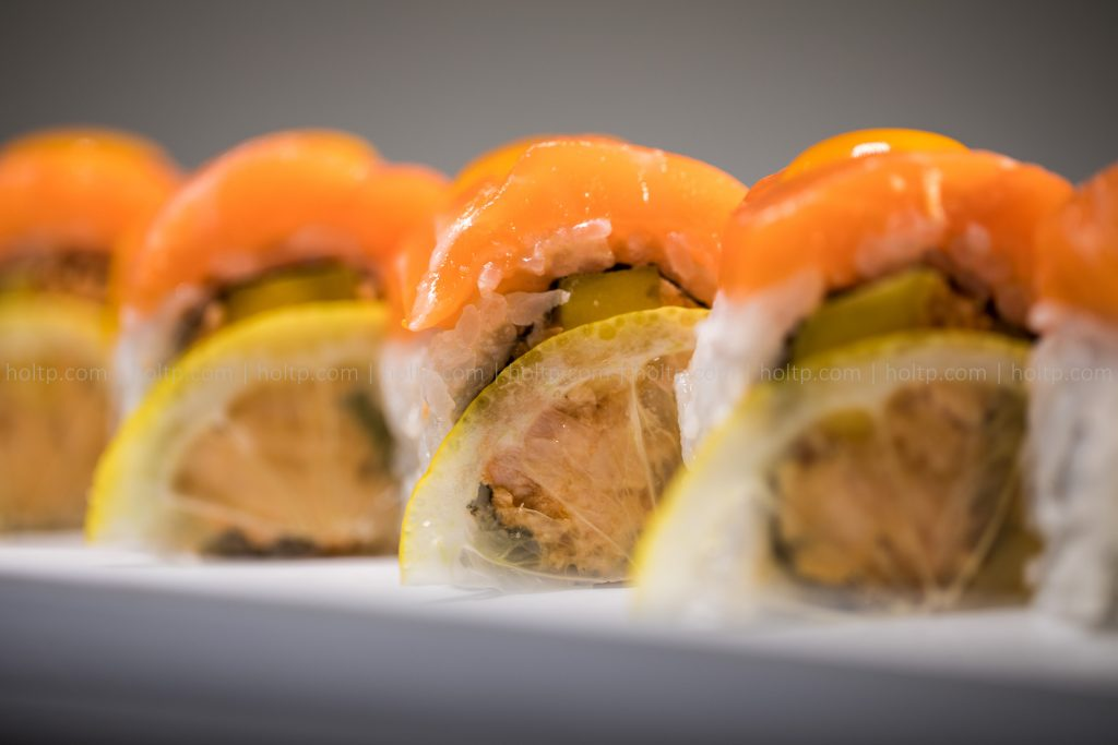 Sushi Roll Photo Lemon Salmon