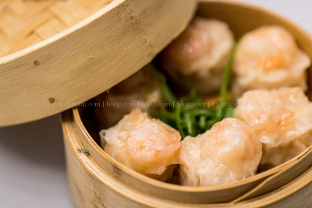 Appetizer Shu Mai in Bamboo Basket