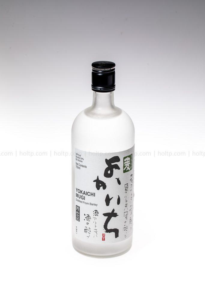 Yokaichi Mugi Sake beverage photography