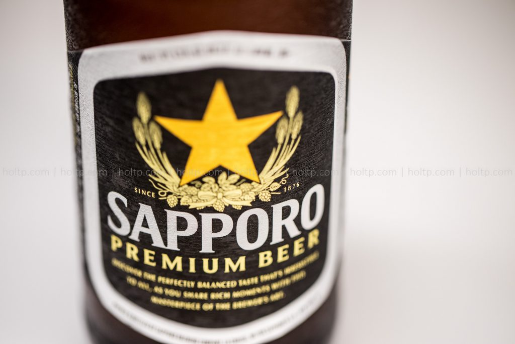 Sapporo beer beverage photography