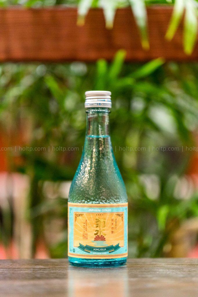 Junmai Ginjo Sake beverage photography