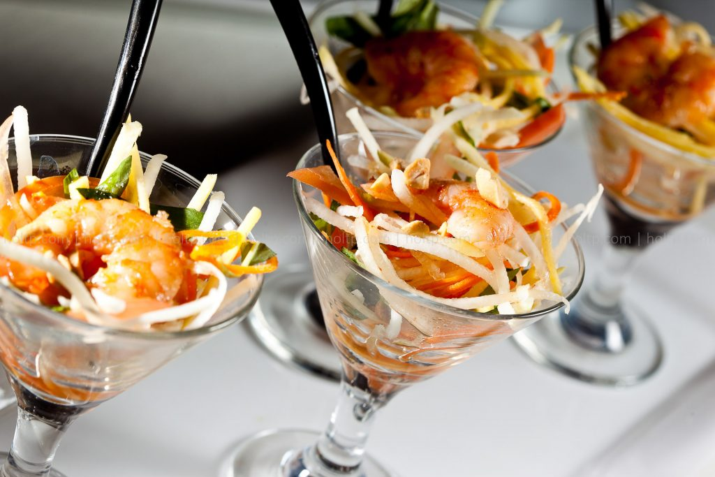 Fancy Papaya Salad in Martini Glass Appetizer