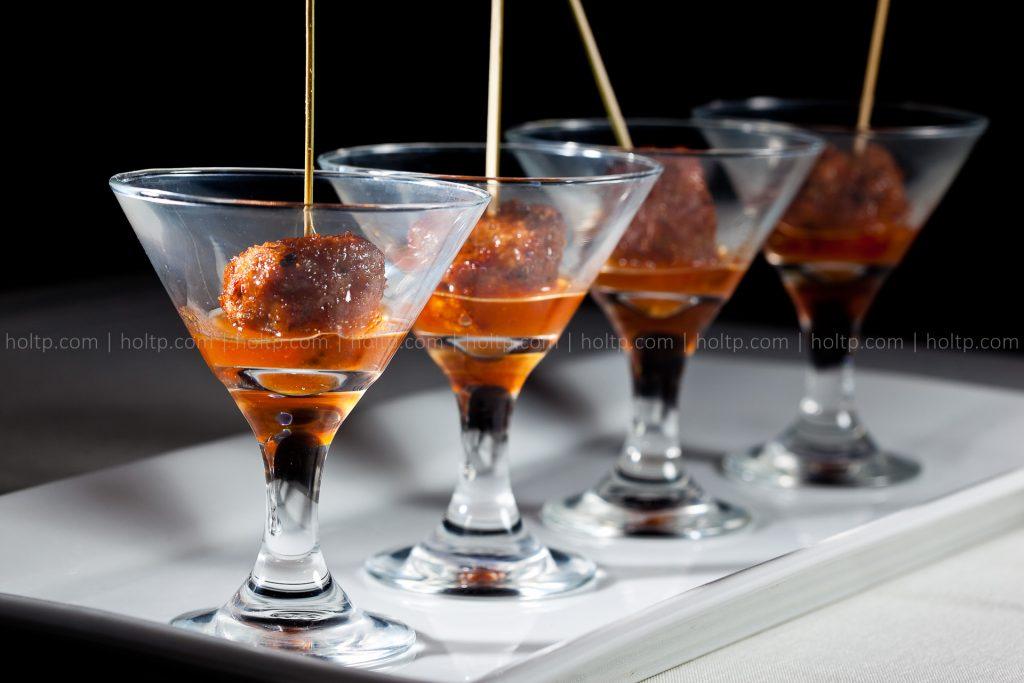 Fancy Shu Mai in Cocktail Glass Appetizer