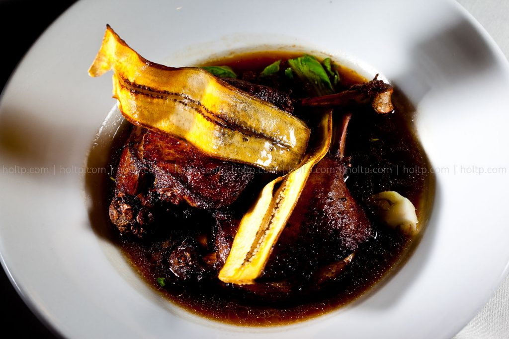 Duck Confit with Fried Plantains