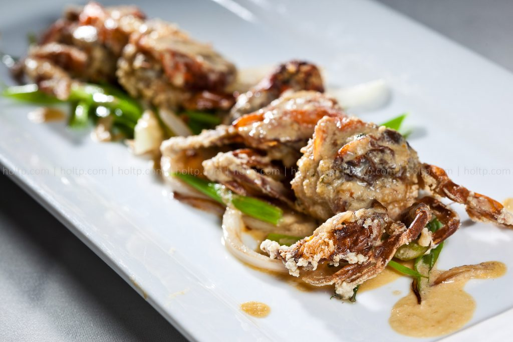 Deep Fried Soft Shell Crab Fine Dining