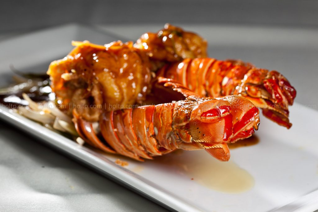 Lobster Tail Tamarind Sauce Photography