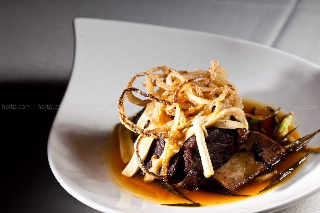 Beef Short Rib with Fried Onion Photography