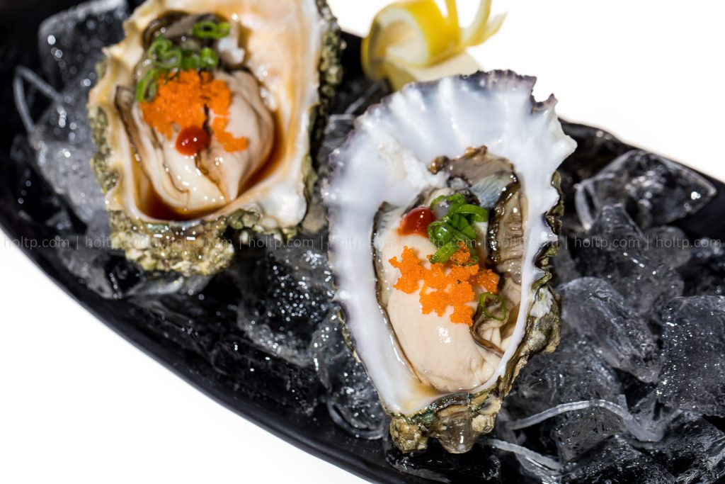 Oyster with Masago on Ice Appetizer Photo