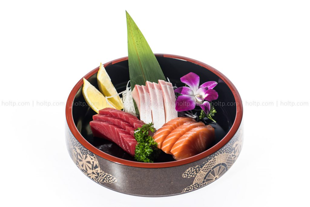 Assorted Sashimi Bowl Photography