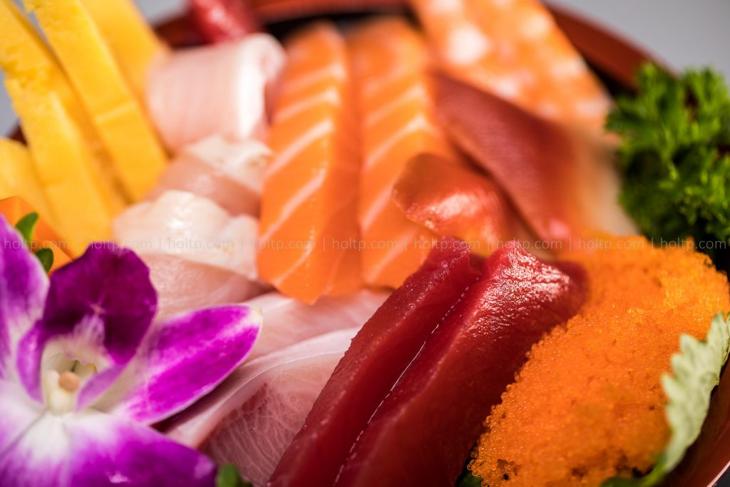 Assorted Sashimi Photography