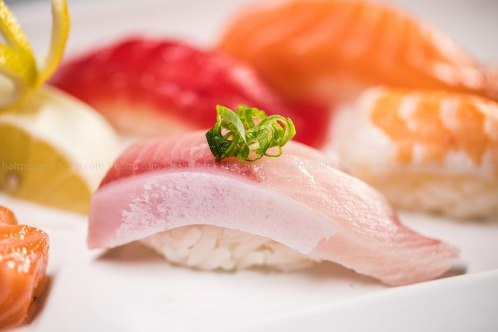 Yellowtail Belly Sushi Photography