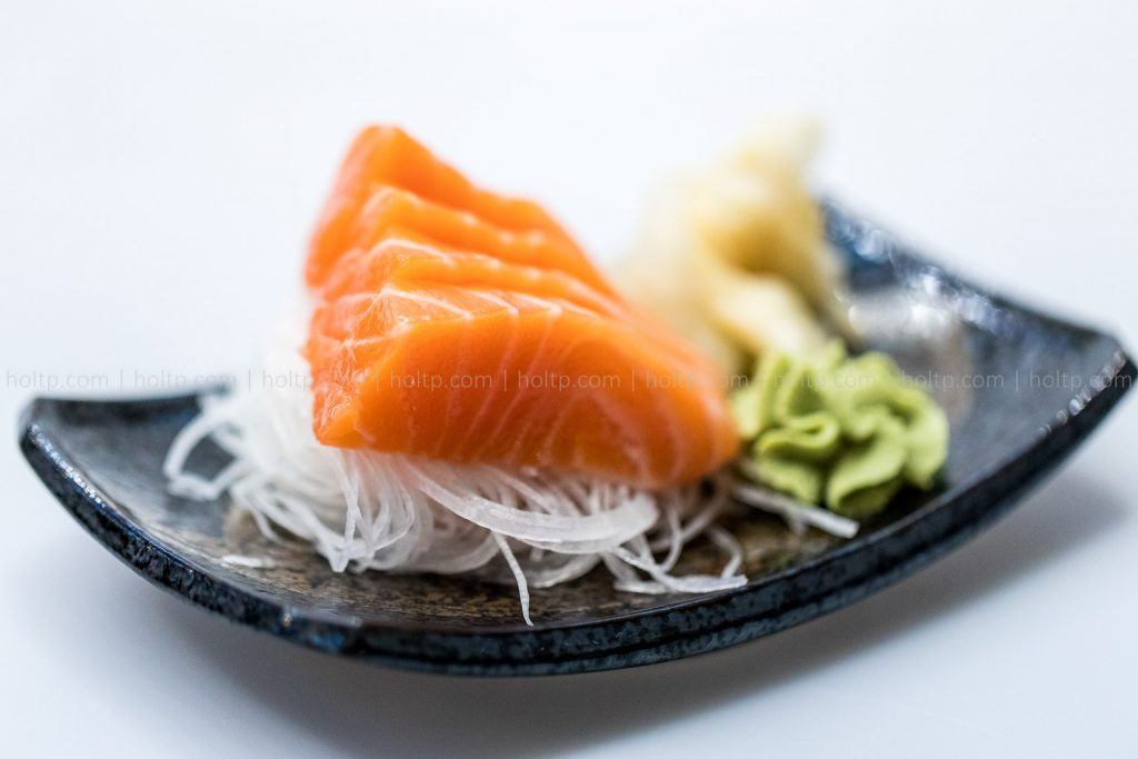 Salmon Sashimi Photography